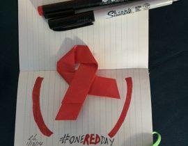 OneREDDay Origami Ribbon