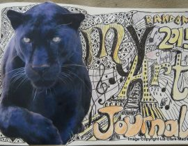 My Random Art Journal 2015 (Title page)