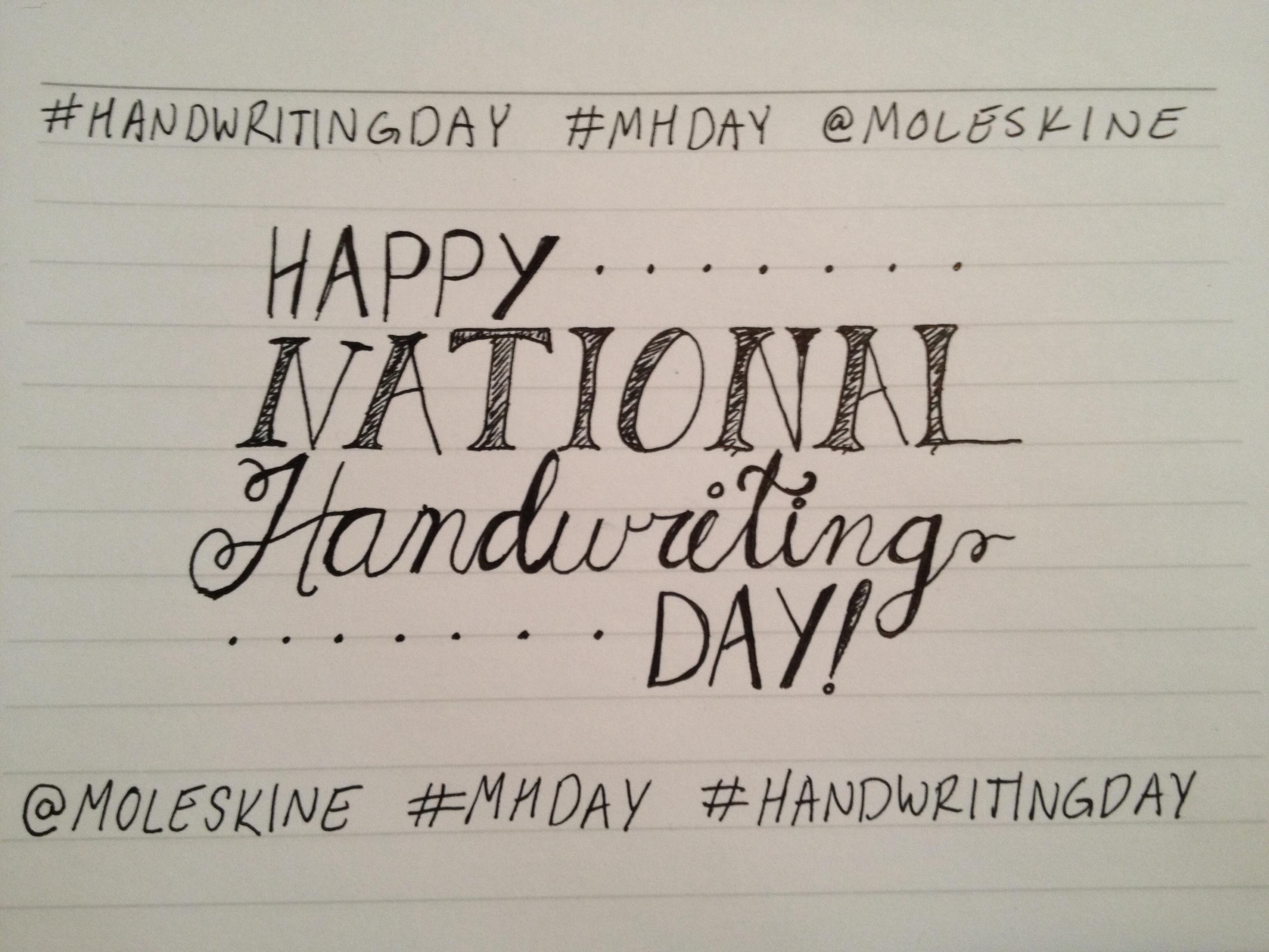 Happy National Handwriting Day!