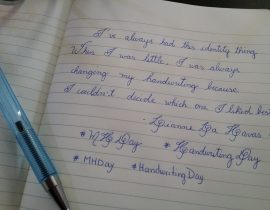#MHDay Handwriting