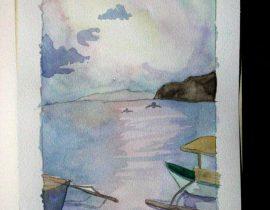 The calming beach