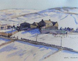 Snow on Harrop Ridge