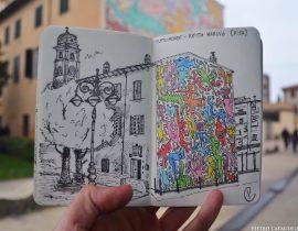"""Tuttomondo"" of Keith Haring Live Sketch"