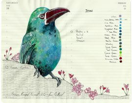 All My Beautiful Boys . Crimson Rumped Tanager