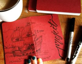 "The Mayflower – ""Project"" Moleskine Cover"