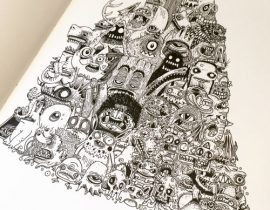 More Monster Moleskine pages