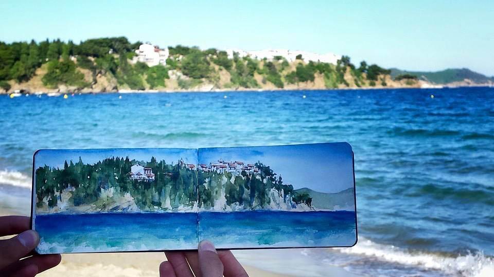 Seascape from Skiathos island