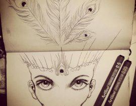 Le Masque du Paon (ink)