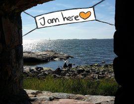 I am here on Suomenlinna