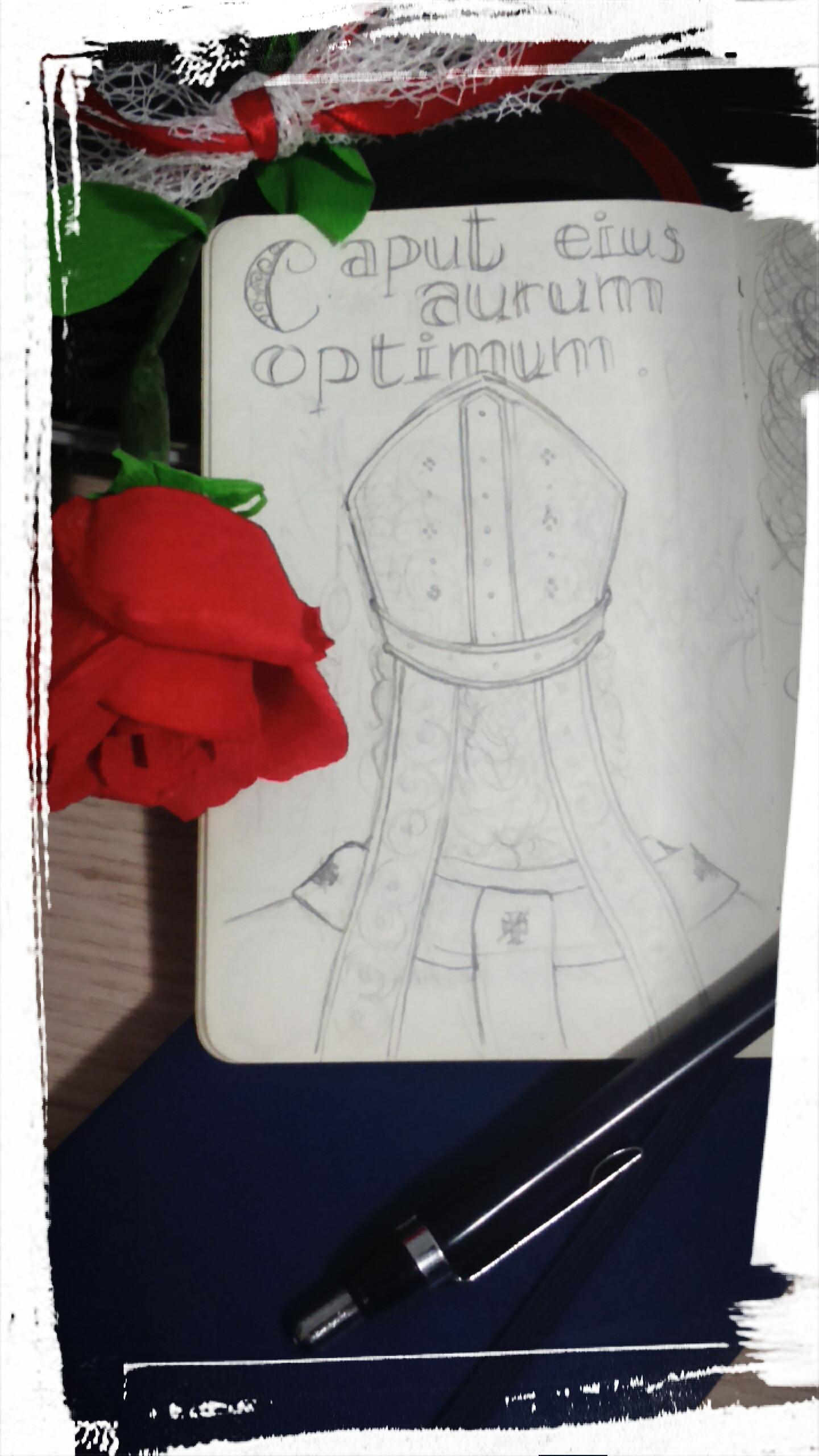 Caput eius aurum optimum…