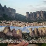 Sketch at Meteora, Greece