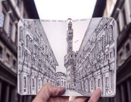 Uffizi Gallery Live Sketch