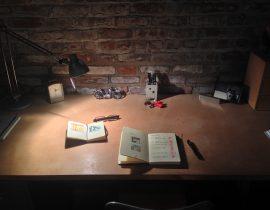 At my desk….
