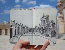 Basilica of Santa Maria Maggiore Live Sketch