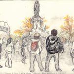 Paris – Place de la Republique – Monday the 16th of November