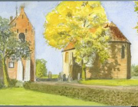 Church of Ezinge, a small village in the North of The Netherlands