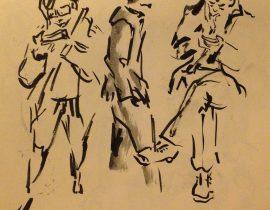 Tokyo Train Sketches