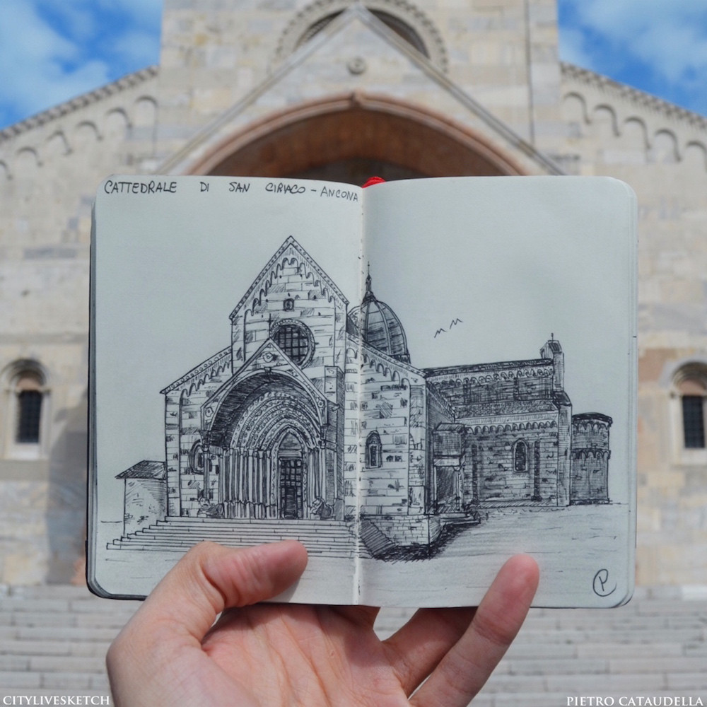 Cathedral of San Ciriaco Live Sketch