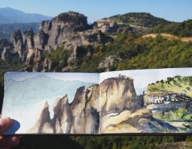 Up at the Meteora rocks, Greece