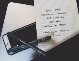 Handwriting over typing – #HandwritingDay