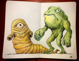 Frogzilla and Megalarva