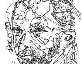VAN GOGH Original Unique Drawing By Artist WYLAND