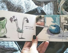 While Waiting for the doctor…// Watercolor sketch