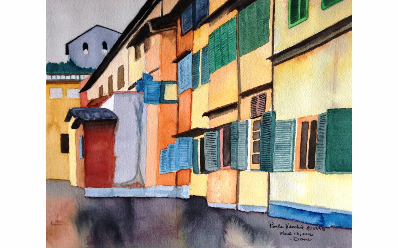 Ponte Vecchio Watercolor