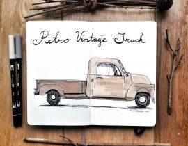 Retro vintage truck