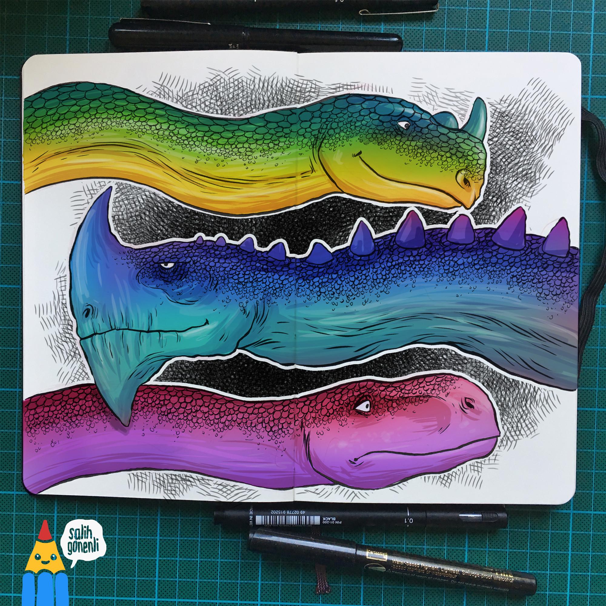 Dinosaur/Dragon Doodles