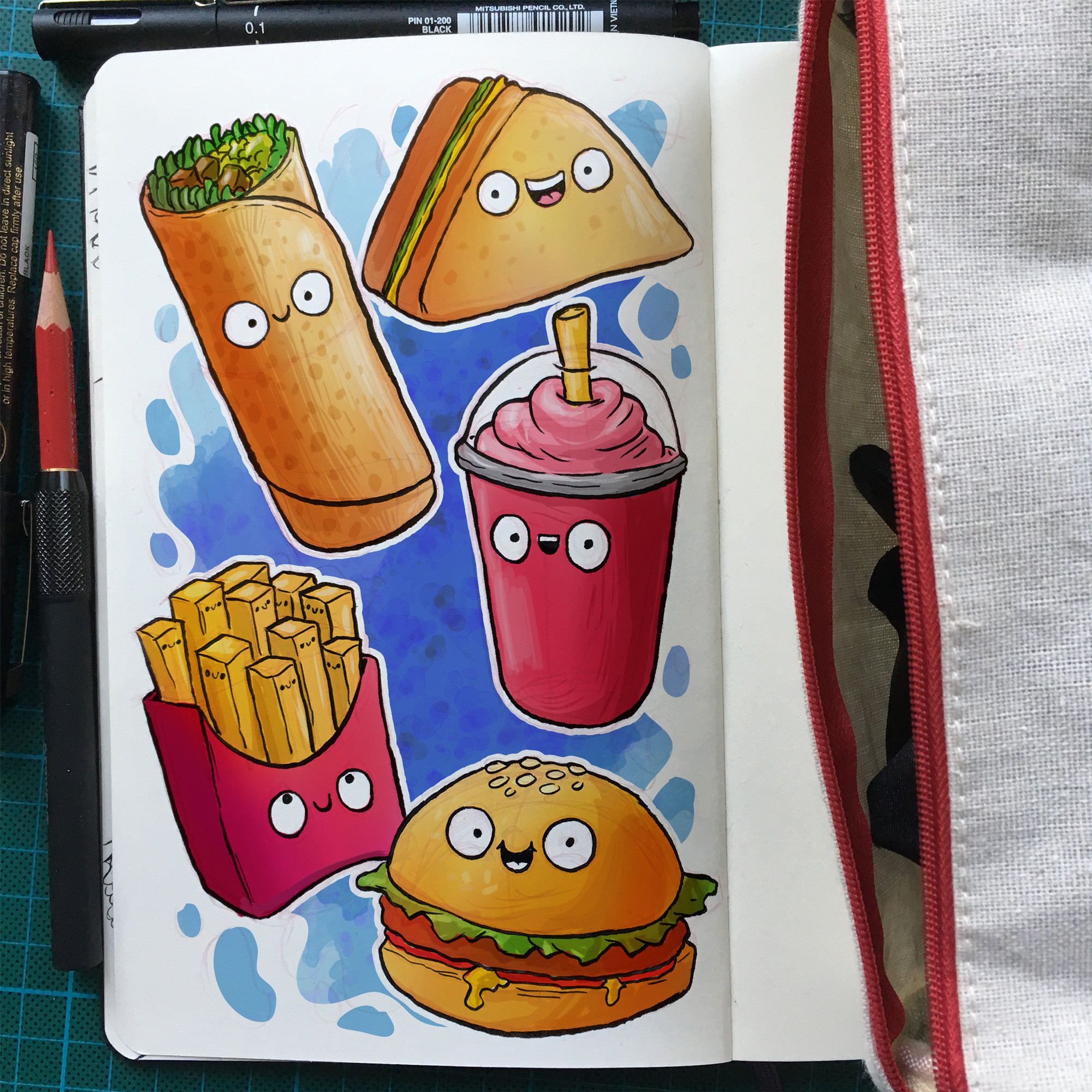 Cute Food Doodles