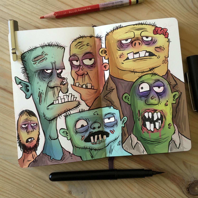 Zombie Doodles