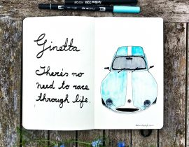 Ginetta classic sports car.