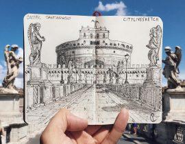 Castel Sant'Angelo Live Sketch.