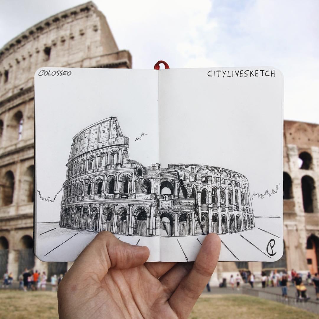 Colosseo Live Sketch.