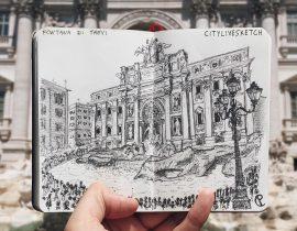 Fontana di Trevi Live Sketch