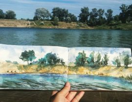 Sketch at my favorite lake