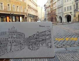Europe Traveling Sketch ~ Czech Prague Square