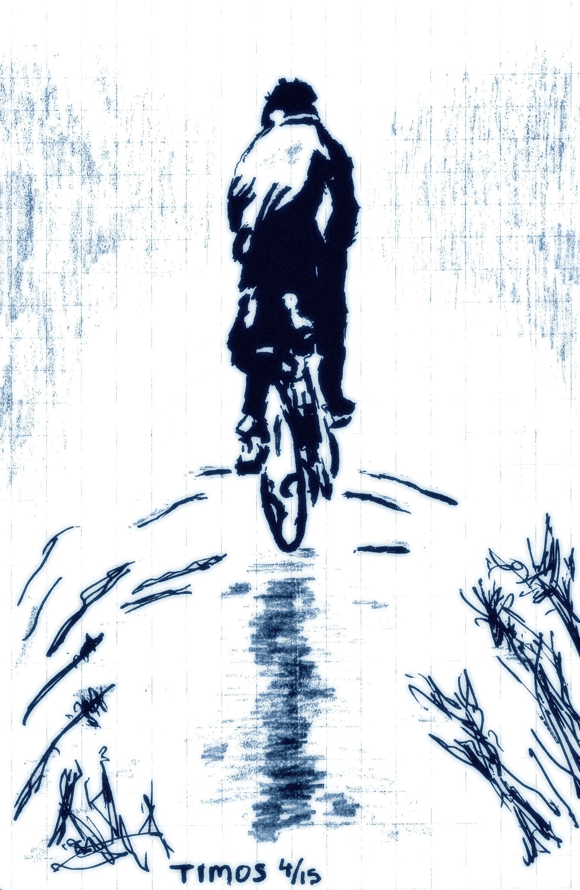 biker departing to eternal perdition