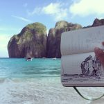 Sketch at Phi Phi island