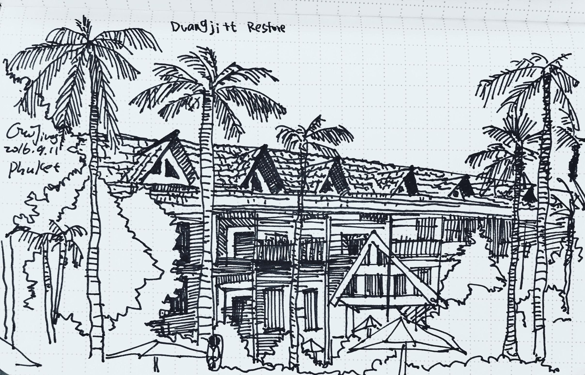 Sketch at Paton Phuket