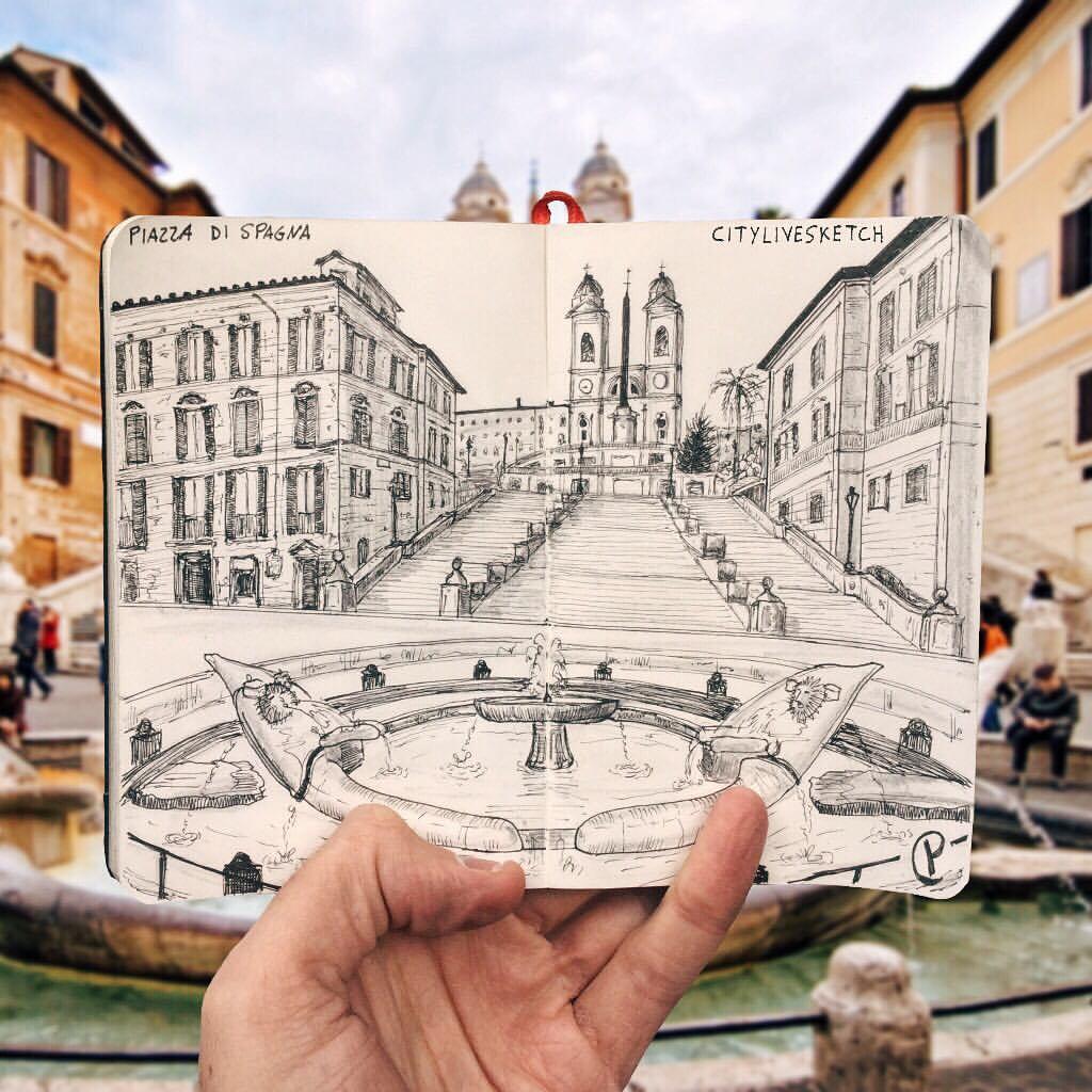 Piazza di Spagna Live Sketch.