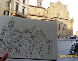 Europe Traveling Sketch ~ Italy Basilica di Santa Maria Novella