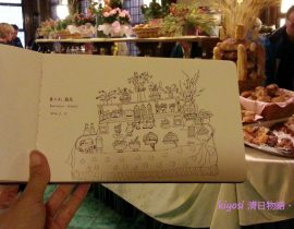 Europe Traveling Sketch ~Italy Roma Hotel Breakfast Bar