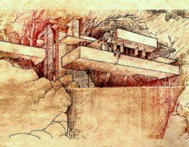 Fallingwater, by Frank Lloyd Wright