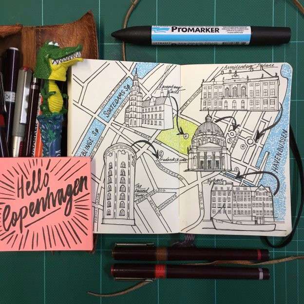 Moleskine Day Trip Map of Copenhagen, Denmark