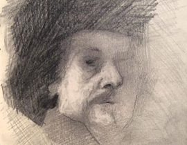 Drawing of Rembrandt