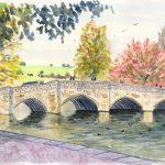 Bakewell stone bridge, Derbyshire, UK