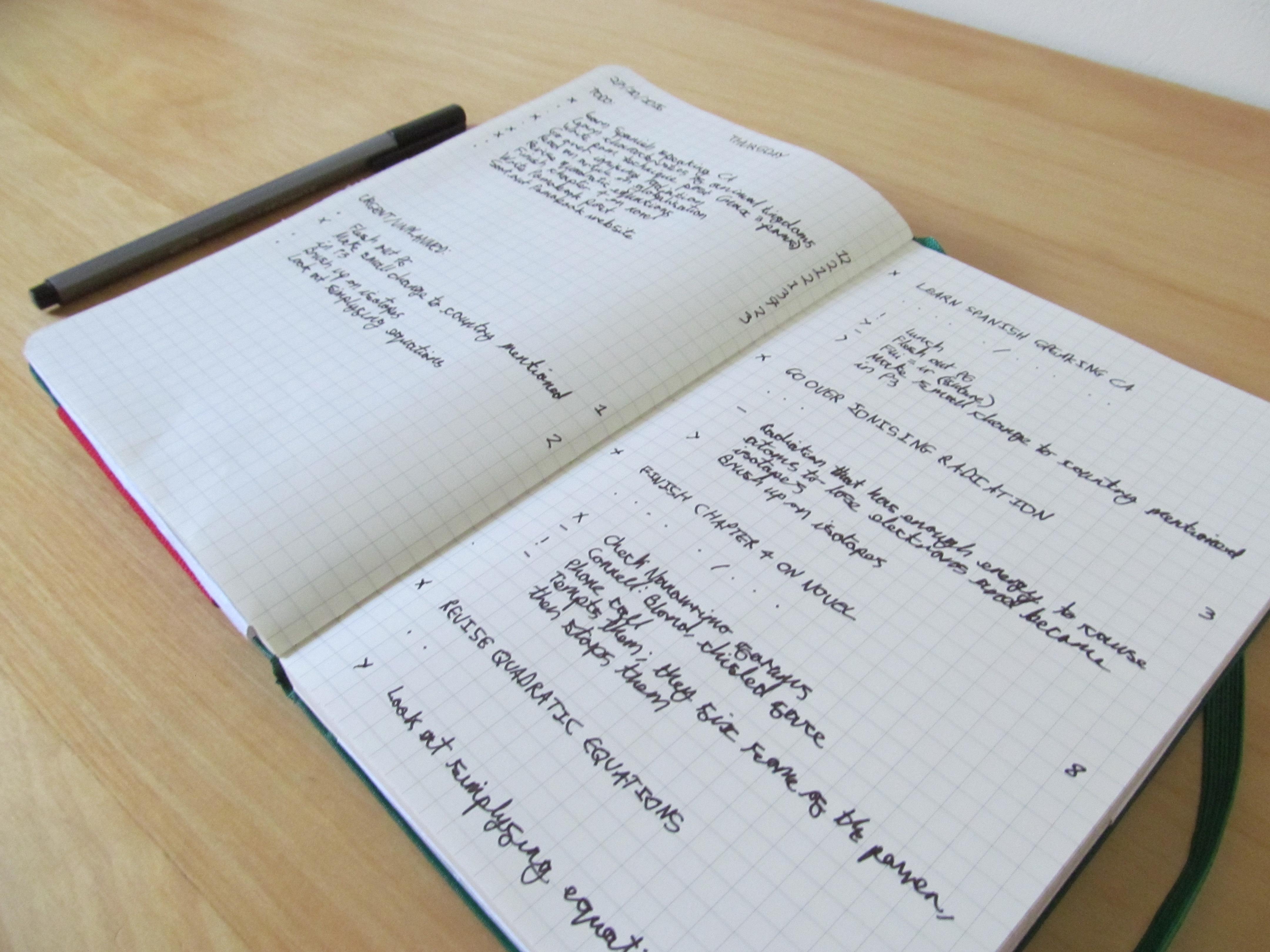 Pomobook – An analog Pomodoro tracking method