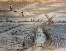 Netherlands Tonal Sketch
